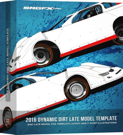 race car template 2016 dynamic dirt late model template srgfx