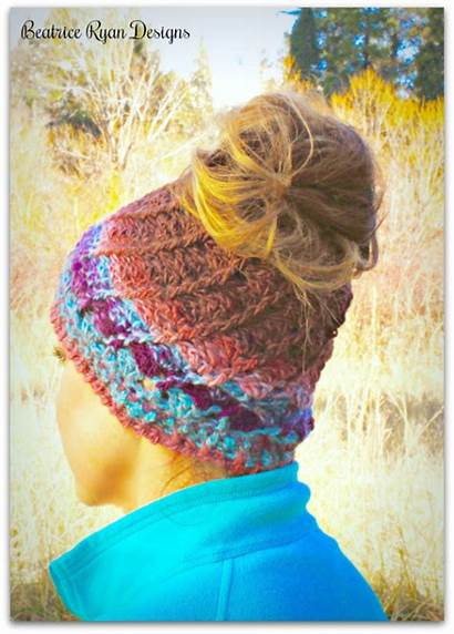 Crochet Hat Bun Messy Pattern Boreal Patterns