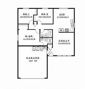 Simple House Floor Plan Drawing Furniture Top Simple