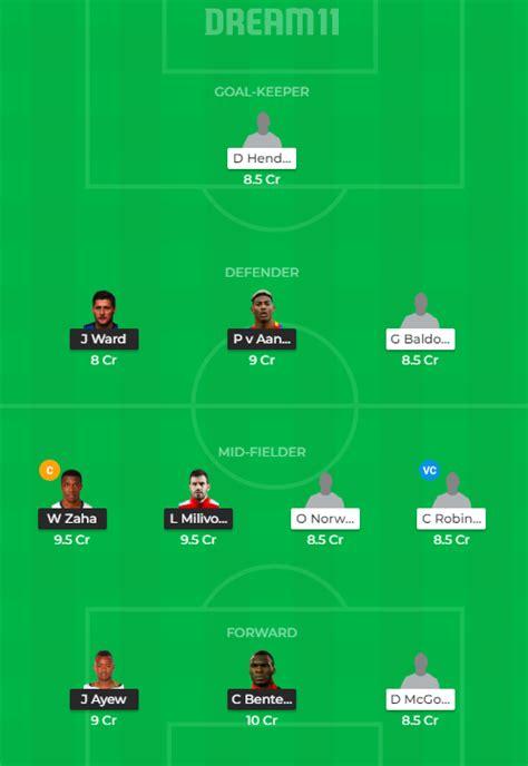 CRY vs SHF Dream11 Prediction, Live Score & Dream Team ...
