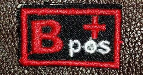 Blood Group Type B Positive B+ Biker Medical Information