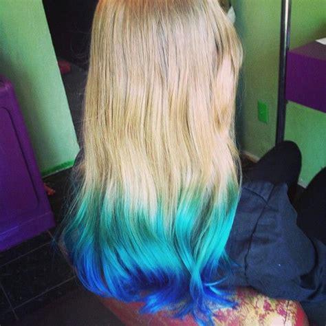 Tip Dyed Hair Blonde Hair Exotic Hair Pinterest