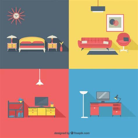 sofa vetorizado home furniture in modern style vector free download