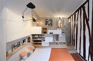 petit appart39 a paris ce n39est pas la taille qui compte With comment meubler un petit studio 10 amenager un petit salon 24 idees deco astucieuses pour