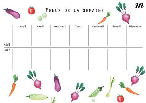 cuisine az menu de la semaine les bons conseils pour composer ses menus de la semaine