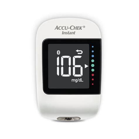 accu chek instant  digital blood glucometer blood