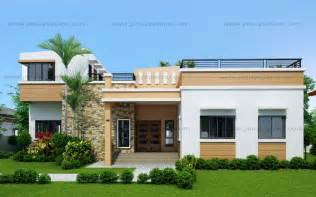 contemporary one house plans four bedroom one storey with roof deck shd 2015021 eplans