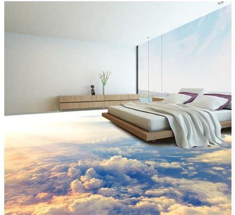 d o chambre b custom photo floor wallpaper 3d stereoscopic 3d clouds