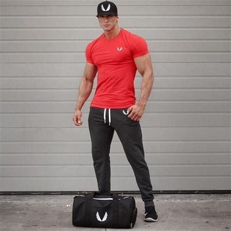 new gymshark mens brand fashion t shirt sleeve casual aesthetic revolution clothing