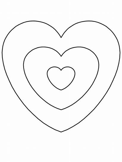 Coloring Heart Pages Valentines Hearts Valentine Printable