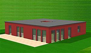 Bungalow Mit Atrium : atrium bungalow 128 6 mit lichthof einfamilienhaus neubau massivhaus stein auf stein ~ Indierocktalk.com Haus und Dekorationen