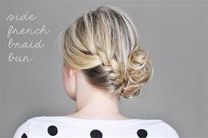 Side French Braid Bun – The Small Things Blog