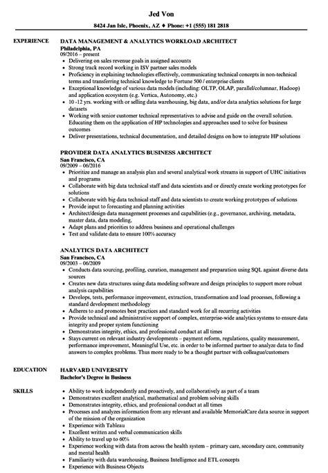 Data Architect Resume by Analytics Data Architect Resume Sles Velvet