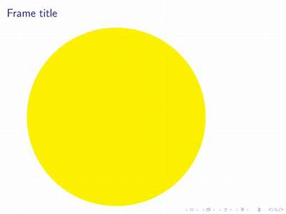 Circle Animated Smaller Yellow Getting Darker Animation