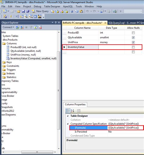 alter table alter column sql server how to alter an existing computed column in a
