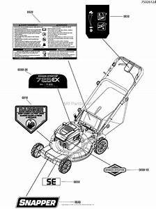 Snapper Spv22725  7800896  22 U0026quot  7 25tpgt Variable Speed Rear Discharge Mower Parts Diagram For
