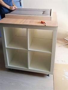 Peindre Un Meuble Ikea : un meuble langer avec du rangement bidouilles ikea ~ Melissatoandfro.com Idées de Décoration