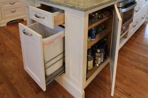 kitchen island with garbage bin kitchen island garbage can transitional kitchen