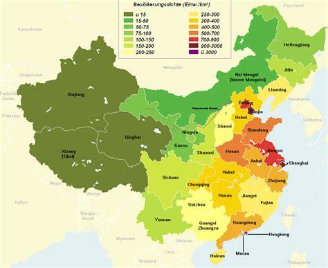 China Population Density Map