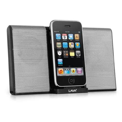 lava portable speaker with ipod iphone docking station