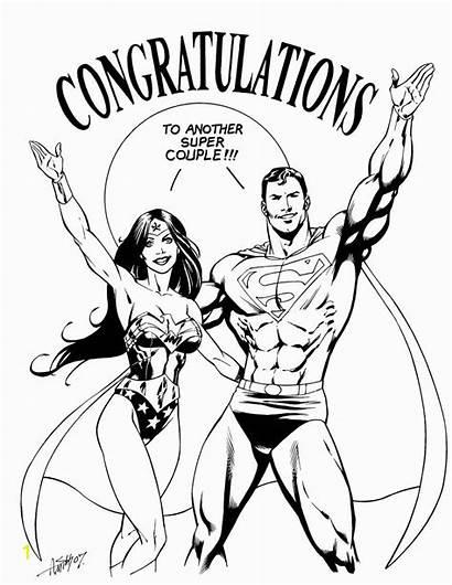 Superman Wonder Woman Drawing Coloring Wonderwoman Inked