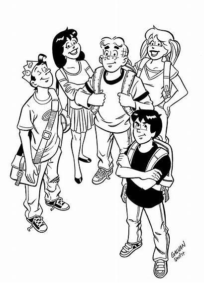 Riverdale Coloring Archie Comic Gang Printable Comics