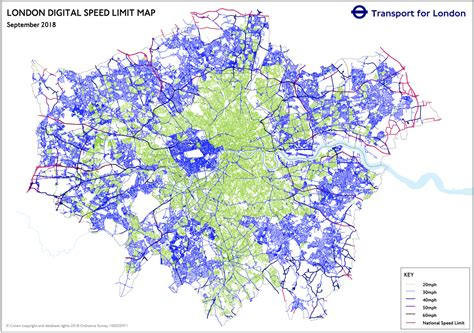 speed limit map mapping london