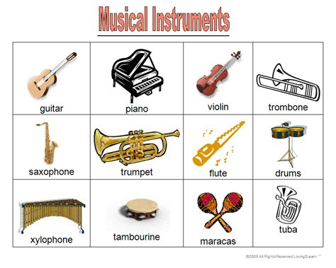 instruments names cliparts co