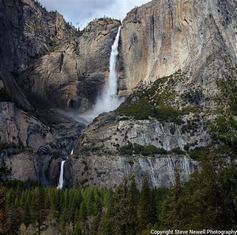 Yosemite Falls Waterfall National Park Sunset