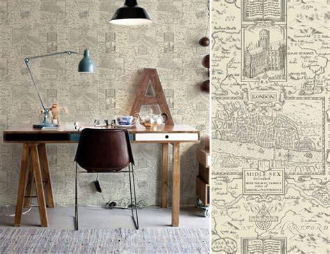 bureau peint papiers peints pour un bureau de style anglais au