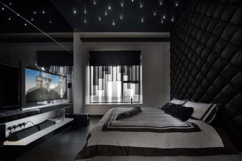 chambre noir et blanc design déco chambre à coucher au design créatif élégant et