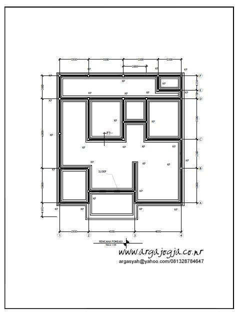 desain gambar kerja rumah tipe