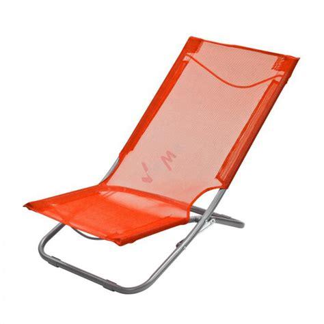 chaise pliante de plage chaise pliante plage piscine de couleur orange plein