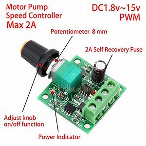 Low Voltage Dc 3v 5v 6v 9v 12v 2a Pwm Dc Motor Pump Speed