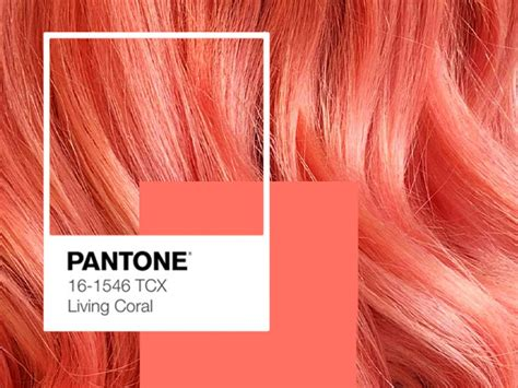 Living Coral Pantone Colour Of The Year For Hair