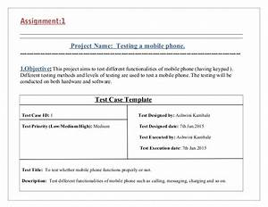 test cases for testing mobile phone With mobile application testing documents