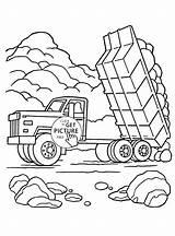 Coloring Pages Truck Transportation Semi Peterbilt Mining Tow Land Dump Printable Water Preschool Landfill Trucks Load Getcolorings Getdrawings Sheets Transport sketch template