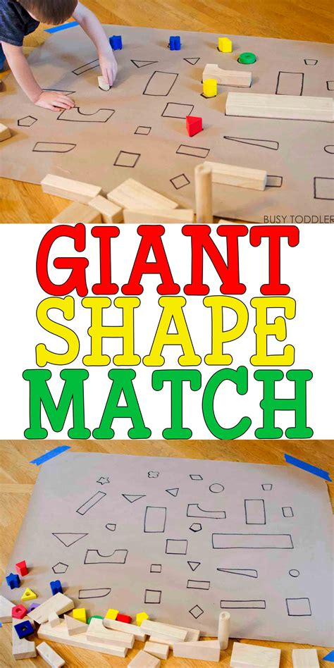 shape match activity busy toddler 335 | giantshapehuntPIN