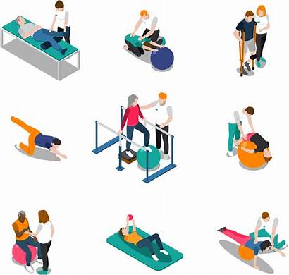Physical Therapy Therapist Concepts Illustration Rehab Sessions