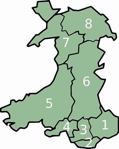 Wales Counties Preserved Map Cymru Wikipedia Wiki