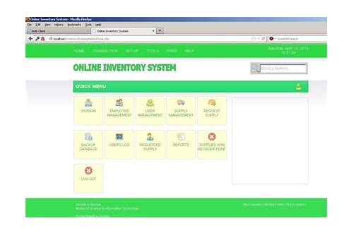 x inventory-php mysql codeigniter inventory system download