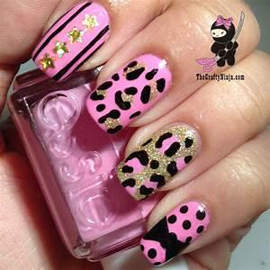 Pink Leopard Print Nails | The Crafty Ninja