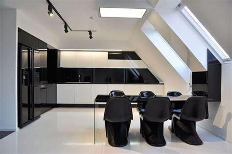 black  white interior design   home