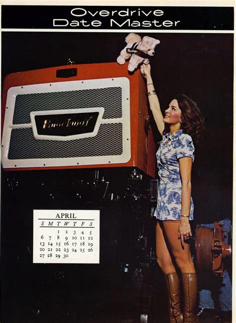 trucker magazine calendar girls    flashbak