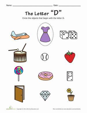 things that start with d worksheet education 204 | start travel games phonics preschool