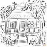 Coloring Pages Beach Printable Drawing Holidays Paper Crafts sketch template