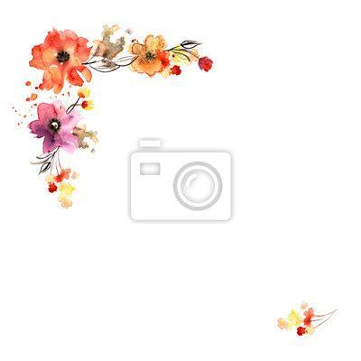 floral background mit handbemalten aquarell blumen