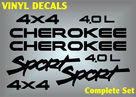jeep cherokee logo jeep cherokee sport 4x4 vinyl decal sticker emblem logo