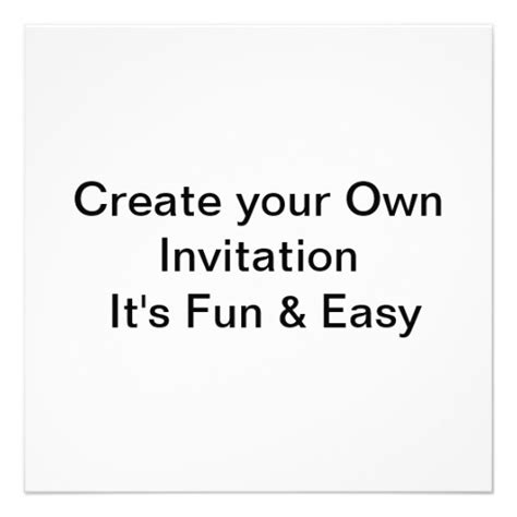 design your own invitations wedding create your own invitation 5 25 quot square invitation