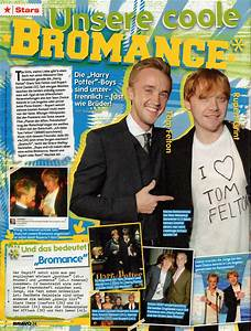 Tom Felton and Rupert Grint in the latest German issue of ...
